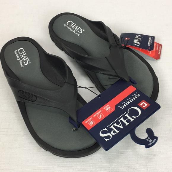 2ea3435c365e0b Chaps Men s Thong Flip Flops Sandals Memory Foam